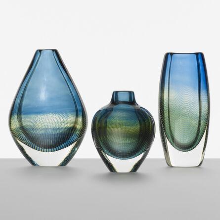 Sven E. Palmqvist, 'Kraka vases, set of three', 1963
