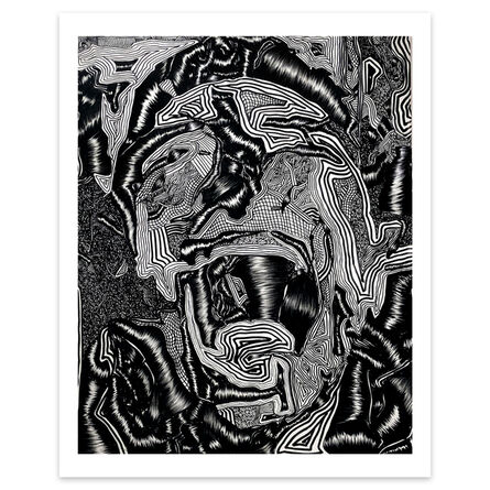 David Paul Kay, 'Geometric Abstraction, black and white, Limited edition portrait- 'Scream'', 2020