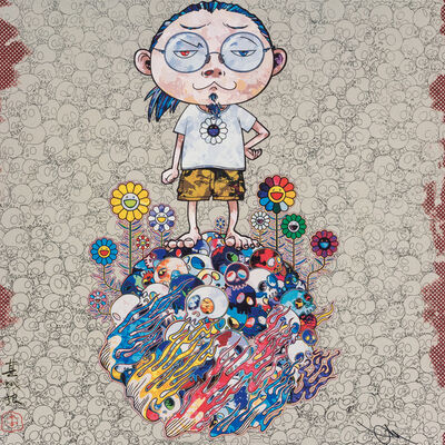 Takashi Murakami, 'Flowers and Death and Me and ...', 2013