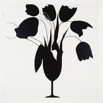 Donald Sultan, 'Black Tulips and Vase, Feb 26, 2014'