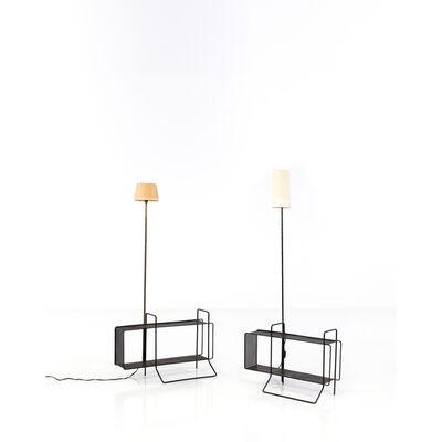 Mathieu Matégot, 'Floor lamp shelf', circa 1950