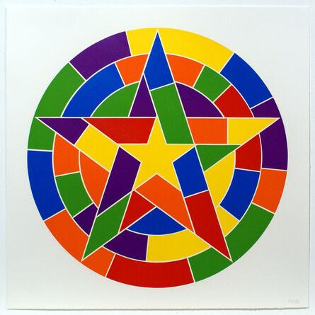 Sol LeWitt, 'Tondo 3 (5 point star)', 2002