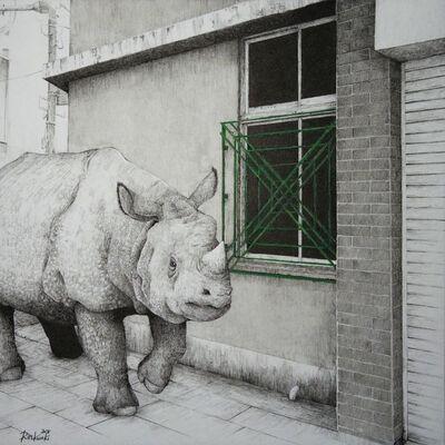 Rin Kuroki, 'HAZAMA-15 Indian rhinoceros', 2018