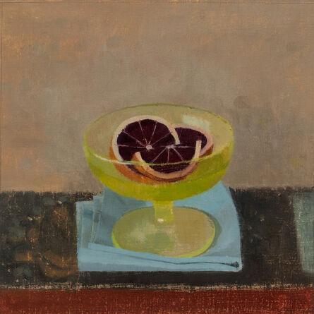Susan Jane Walp, 'Blood Orange Segments in Green Dish with Blue Cloth', 2017