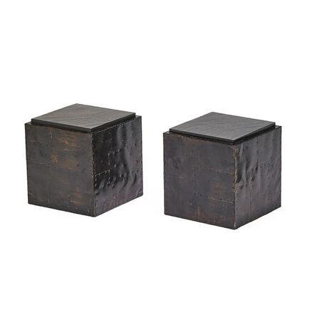 Paul Evans (1931-1987), 'Cube tables (2)', 1970s