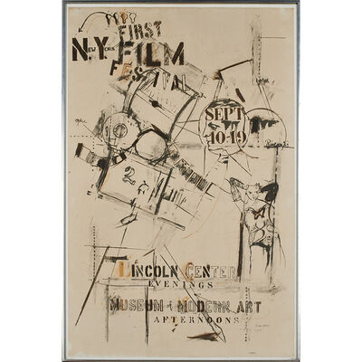 Larry Rivers, 'First New York Film Festival exhibition poster', 1963