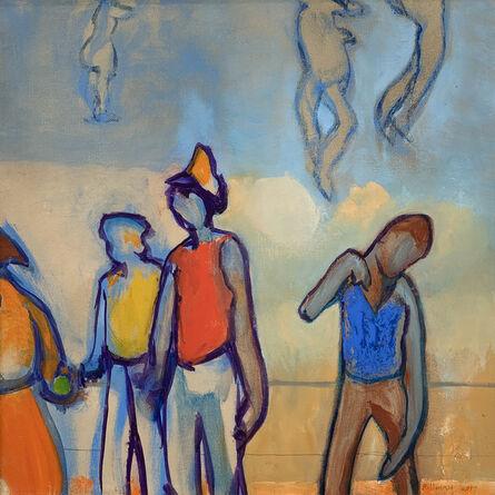 Robert Henry, 'Street Scene, Yellow Cap', 2017