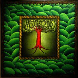 Antonio Henrique Amaral, 'ON THE CENTER A TREE', 1990