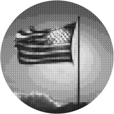Alex Guofeng Cao, 'If I Can Dream Flag Vs. Liberty, after Mapplethorpe', 2020