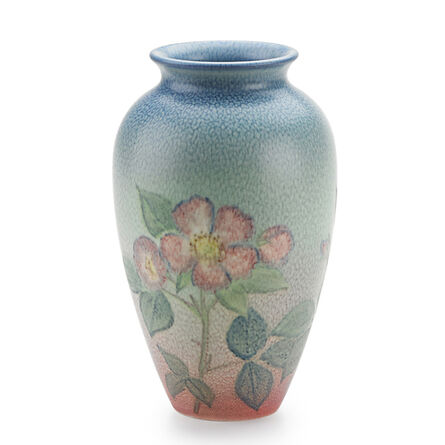 Kataro Shirayamadani, 'Double Vellum Vase With Roses (Uncrazed), Cincinnati, OH', 1938
