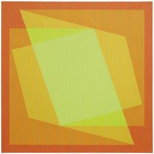 Julian Stanczak, 'Sharing in Orange', 1970