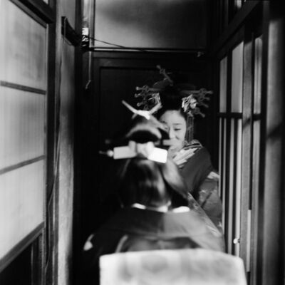 Toshio Enomoto, '079-New Year ceremony, Kabu Renshujo Theater, Shimabara', 1983