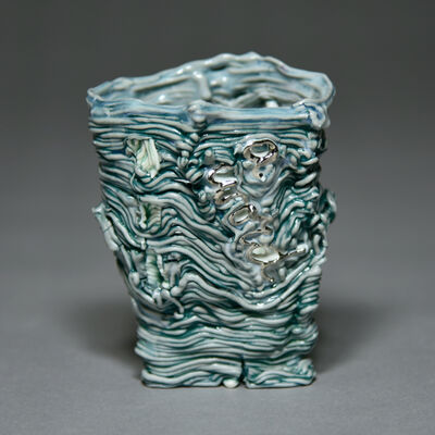 Stephanie Lanter, 'Word Cup (turquoise/silver)', 2020