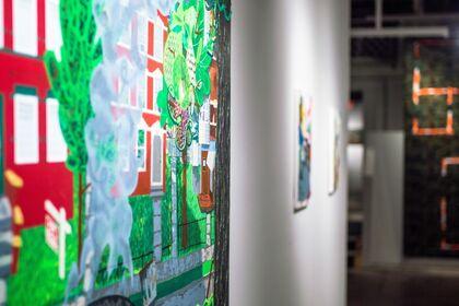 "Var West Gallery: Ian Sonsyadek ""landscape, new development"""