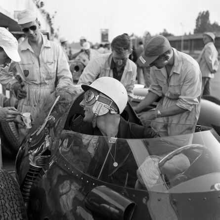 Jesse Alexander, 'Portrait of Stirling Moss in a Vanwall, Monza, Italy', 1958