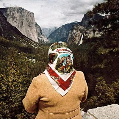 Roger Minick, 'Woman with Scarf at Inspiration Point, Yosemite National Park, California', 1980