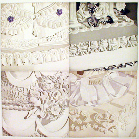 Julia Jacquette, 'White on White (Four Sections of Wedding Cake)', 2001