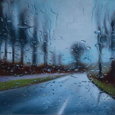 Steen Larsen, 'Strandskovvej in Rain', 2021