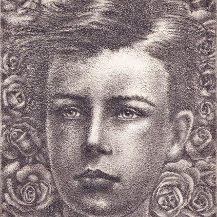 """Valentine Hugo, '""""Portrait d'Arthur Rimbaud à 17 ans d'après Étienne Carjat""""', 1954"""