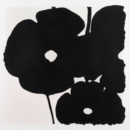 Donald Sultan, 'Reversal Poppies: White and Black, November 6, 2015', 2015