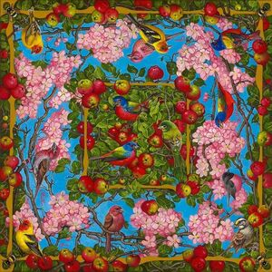 Yana Movchan, 'Apple Blossoms with Birds and Bees'