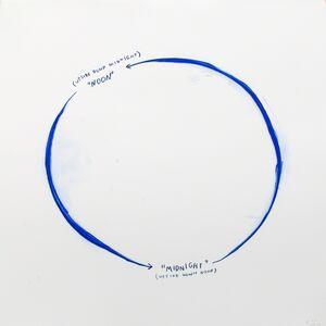 Christine Sun Kim, 'Upside Down Midnight & Untitled (Midnight)', 2014