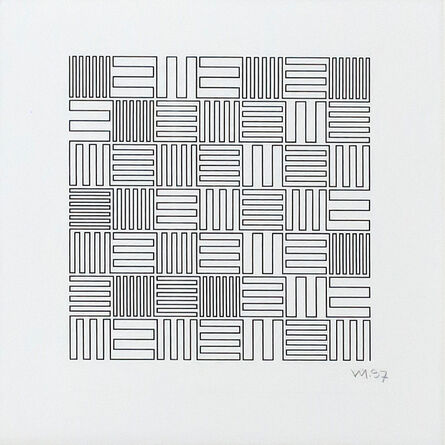 Vera Molnar, 'Du cycle parcours à angles droits ', 1997