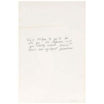 Richard Prince, 'Suicide Jokes', 1989