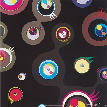 Takashi Murakami, 'Jellyfish eyes black 2', 2004