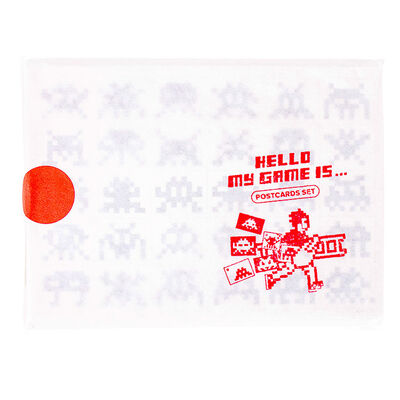 """Invader, '""""HELLO MY GAME IS.....""""POSTCARD SET', 2017"""