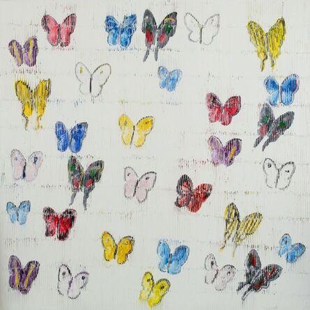 Hunt Slonem, 'White Butterflies', 2018