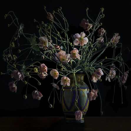 T.M. Glass, 'Japanese Anemones in an Arts and Crafts Movement Vase', 2017