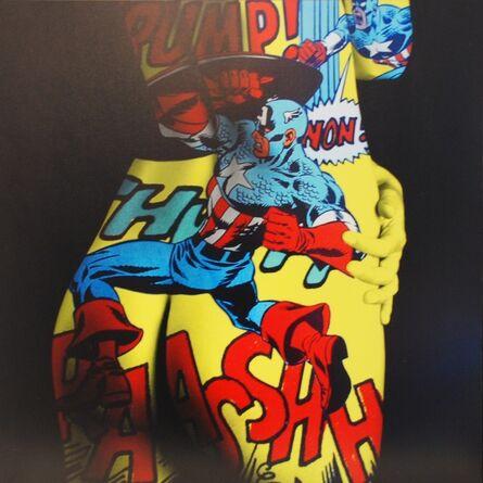 F2B Frederic de Bonnechose, 'Comixs Captain America', 2014