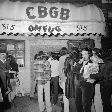 Meryl Meisler, 'A Flower Outside CBGB OMFUG', 1977