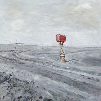 Hung Liu 刘虹, 'Red Mailbox', 2020