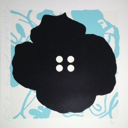 Donald Sultan, 'Button Flower, Aqua, Sept. 15, 2014', 2014