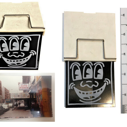 "Keith Haring, '""Three Eyed CONDOM Case"", POP Shop NYC, & 1980's POP Shop Photo', 1987"