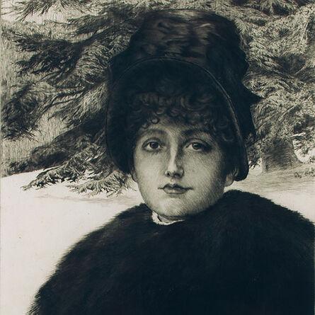 """James Jacques-Joseph Tissot, '""""Promenade dans la neige (W. 48)""""', 1880"""