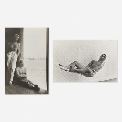 Paul Cadmus, 'Two PaJaMa images with letter', c. 1950