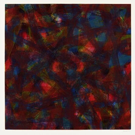 Sol LeWitt, 'Straight Brushstrokes in Five Colors in All Directions (3 works)', 1996