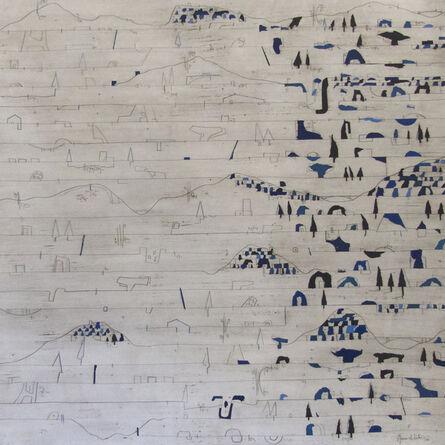 Manu vb Tintoré, 'reflex blau 2', 2017