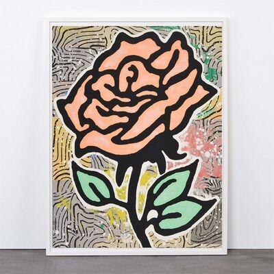 Donald Baechler, 'Orange Rose', 2015