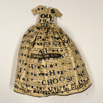 Lesley Dill, 'Small Poem Dress', 1993
