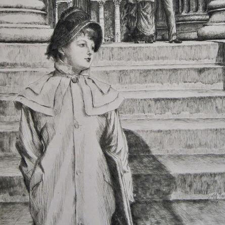 """James Jacques-Joseph Tissot, '""""Le Portique de la Galerie nationale à Londres (W. 40)""""', 1878"""