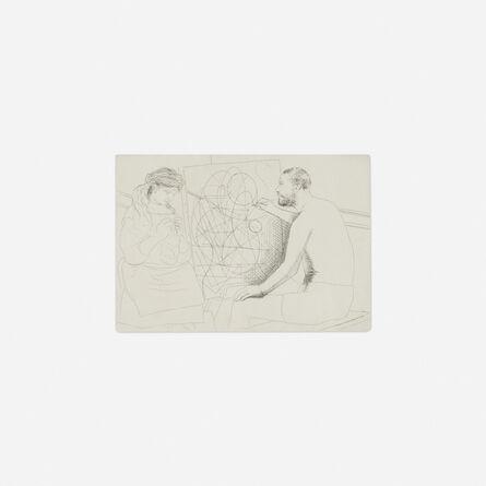 Pablo Picasso, 'Peintre et Modele Tricotant from Le Chef-d'OEuvre Inconnu', 1927