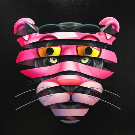 Super A, 'The Real Pink Panther - Trapped Series', 2019