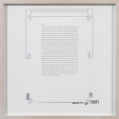 Art & Language, 'Letters to The Red Crayola IV', 1976-2012