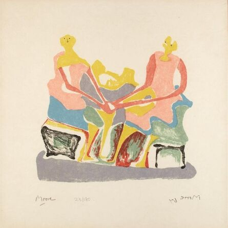 Henry Moore, 'Two Women Seated', 1967