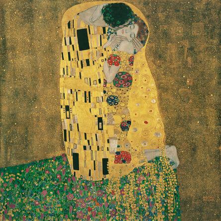 Gustav Klimt, 'Kiss', 1907