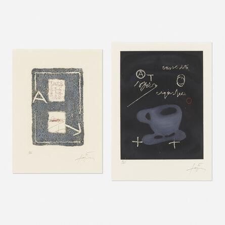Antoni Tàpies, 'Tasse and Untitled (two works)', 1978